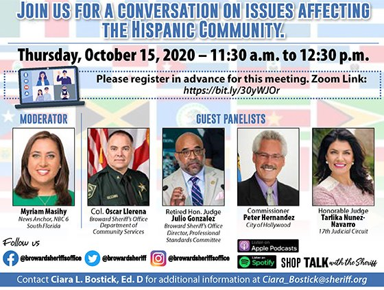 BSO Conversation on issues affecting the Hispanic Community