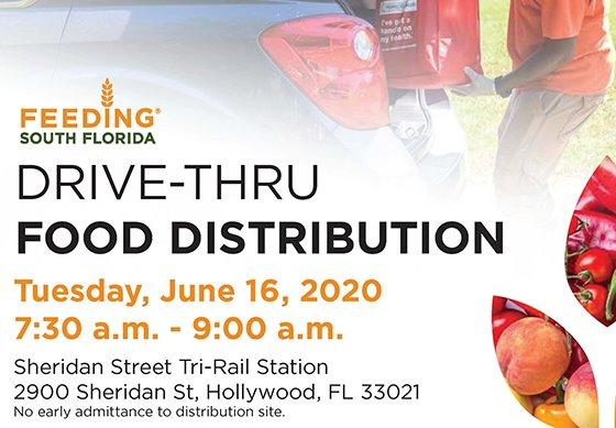 Drive-Thru Food Distribution Tuesday, June 16, 2020 7:30 - 9 am