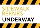 Sidewalk Repairs Underway