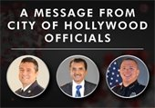 A message from City of Hollywood Officials