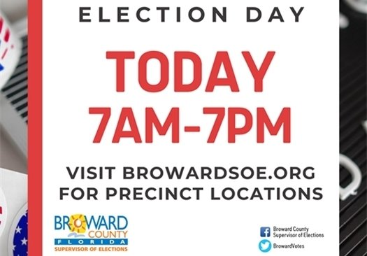 Election Day Today 7am-7pm