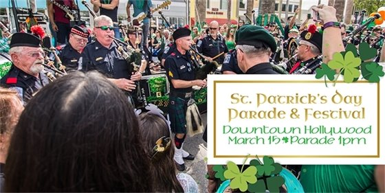 St. Patrick's Day Parade & Festival Downtown Hollywood March 15 Parade 1pm