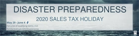 Disaster Preparedness 2020 Sales Tax Holiday