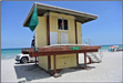 Old lifeguard tower