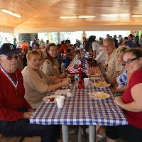 Veteran's Sitting At PicnicTable
