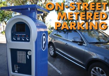 On-street Metered Parking in Downtown Hollywood