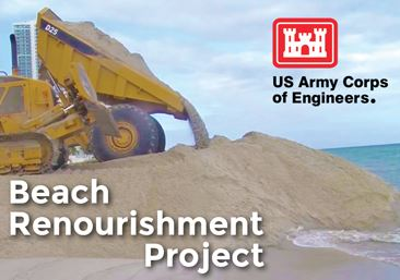 Beach Renourishment Project Underway on Hollywood North and South Beach