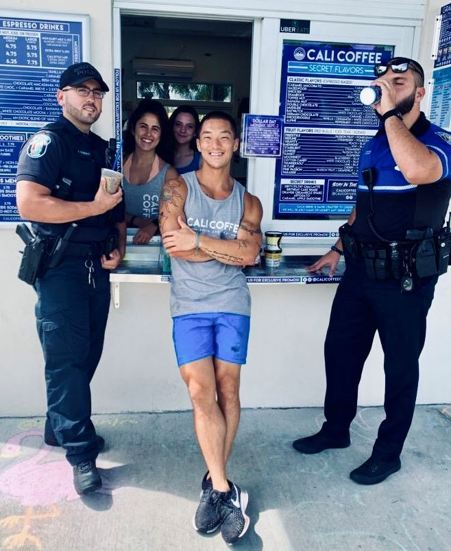 Coffee with a Cop at Cali Coffee in Hollywood