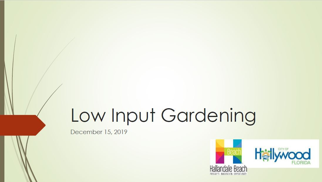 Low Input Gardening Powerpoint