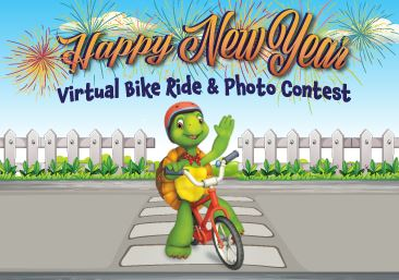 Happy New Year Virtual Bike Ride and Photo Contest Promotional Image