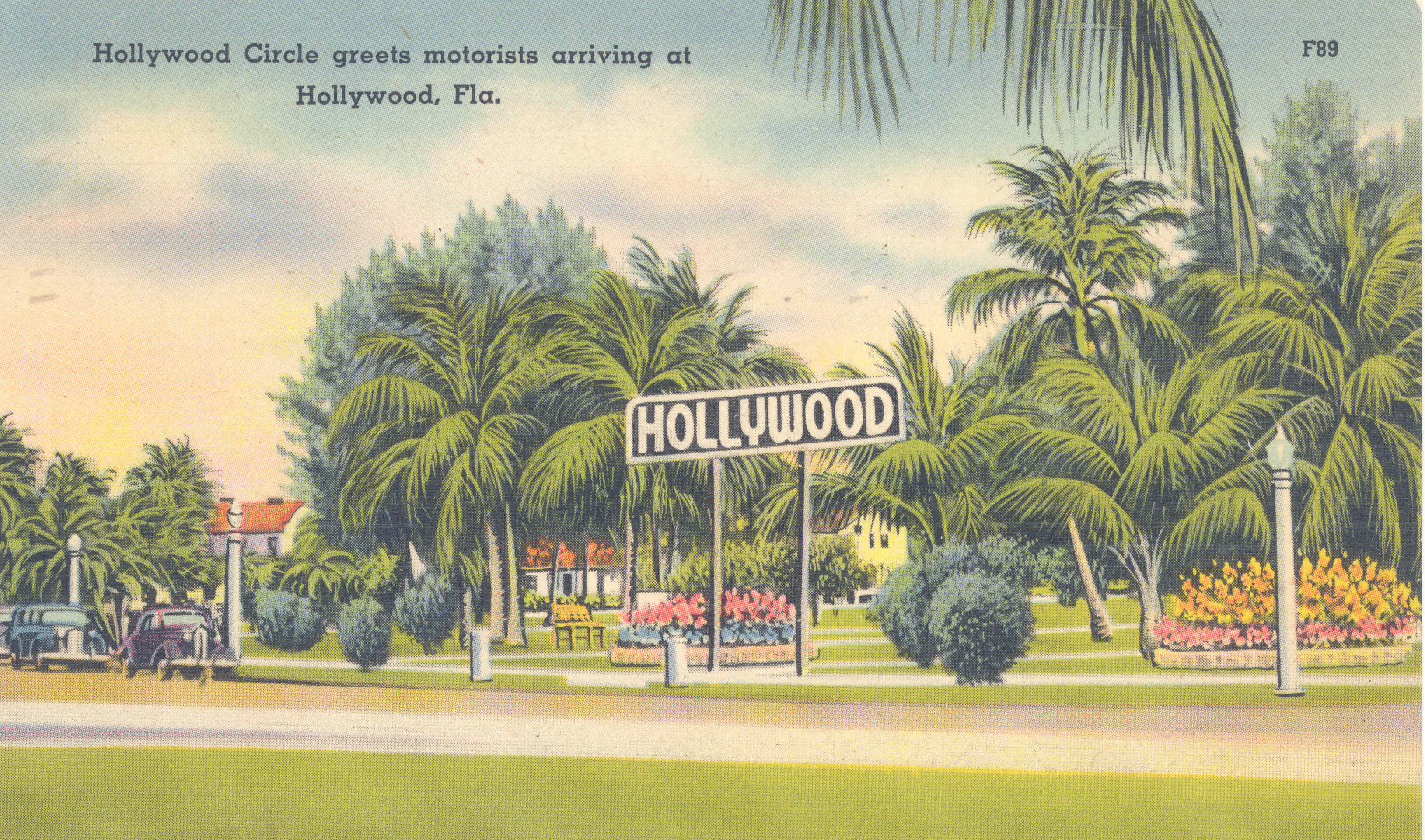 Hollywood Circle greets arriving motorists