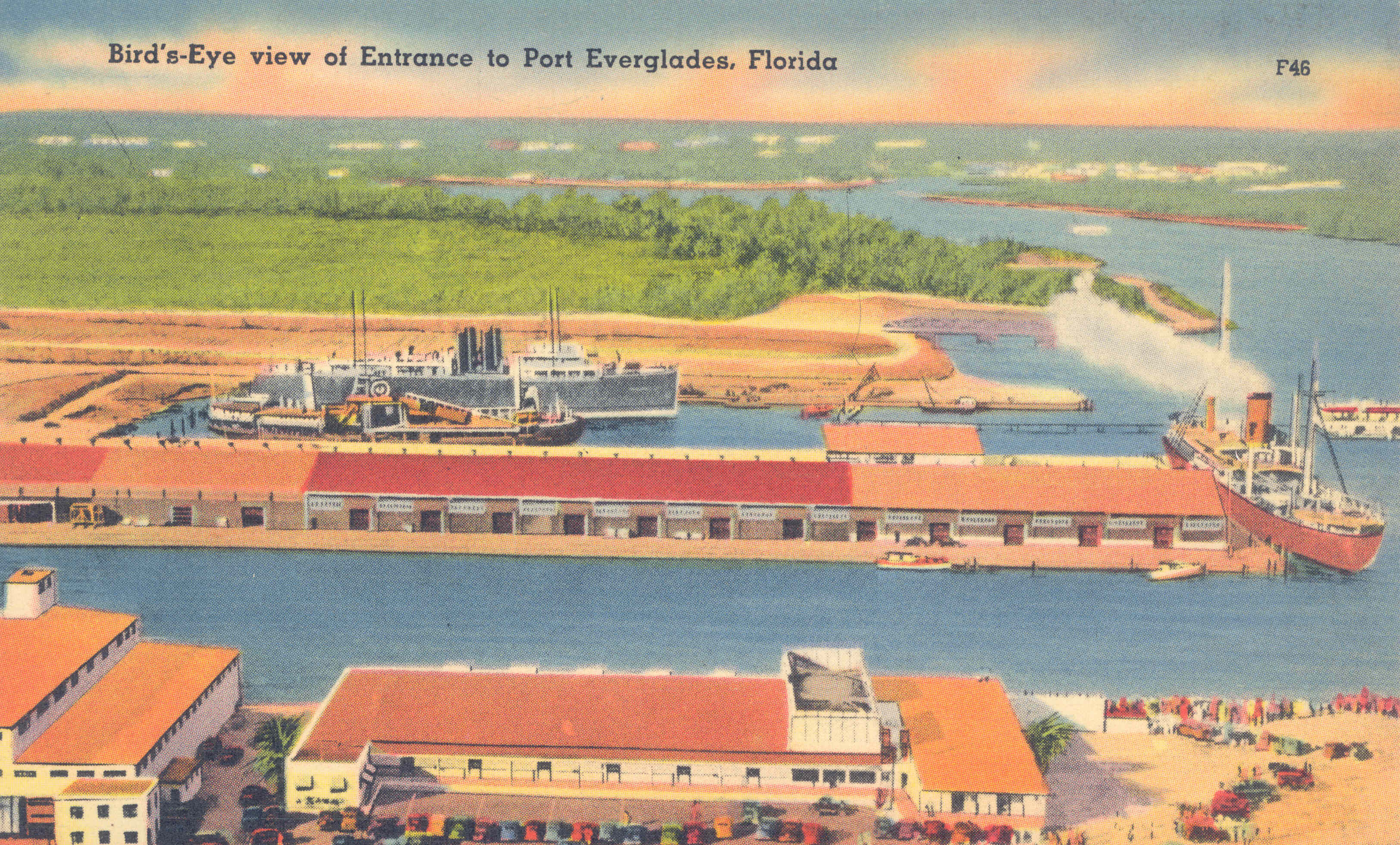 Bird's-Eye View of Entrance to Port Everglades