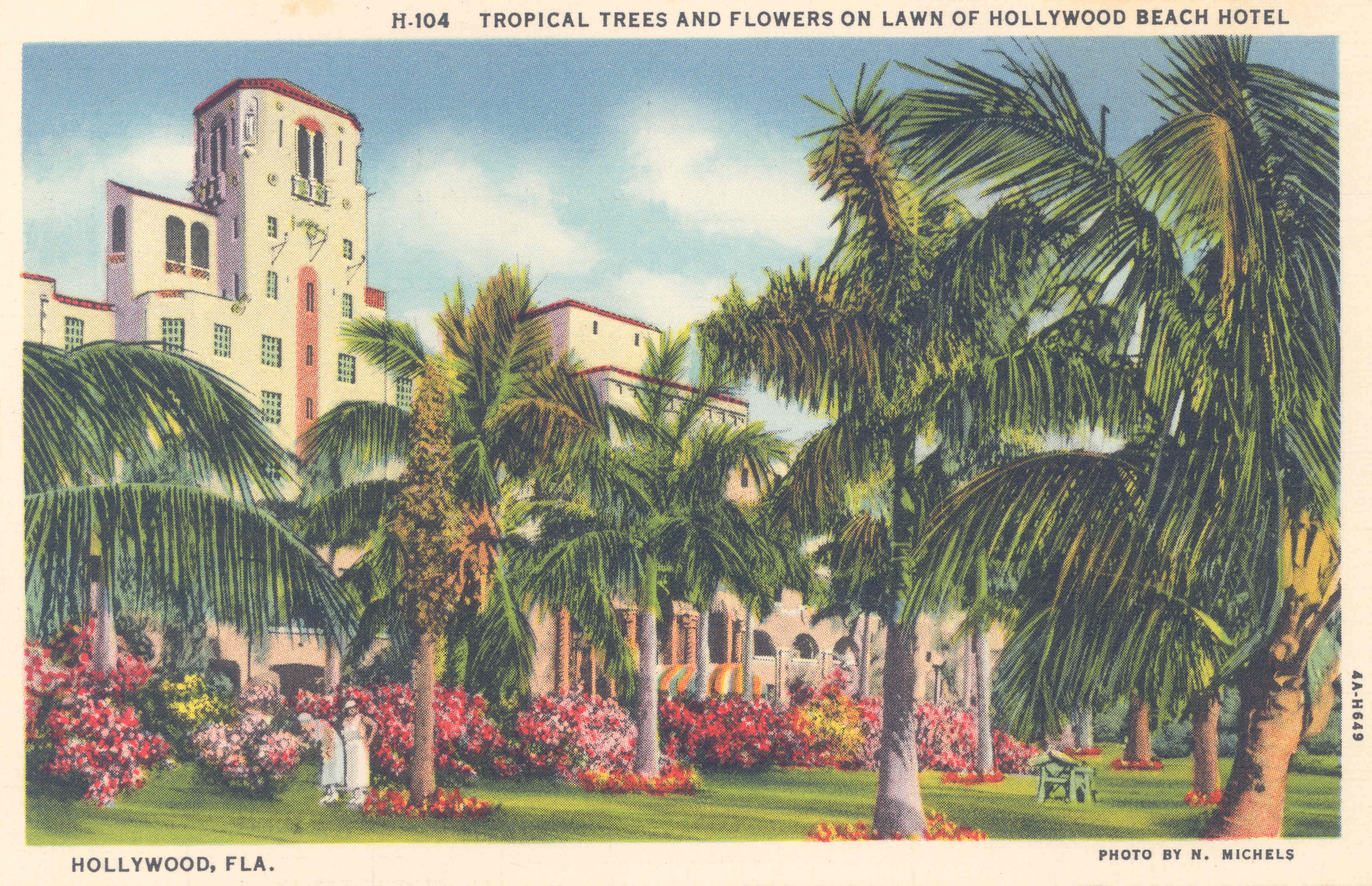 Tropical Trees & Flowers at Hollywood Beach Hotel
