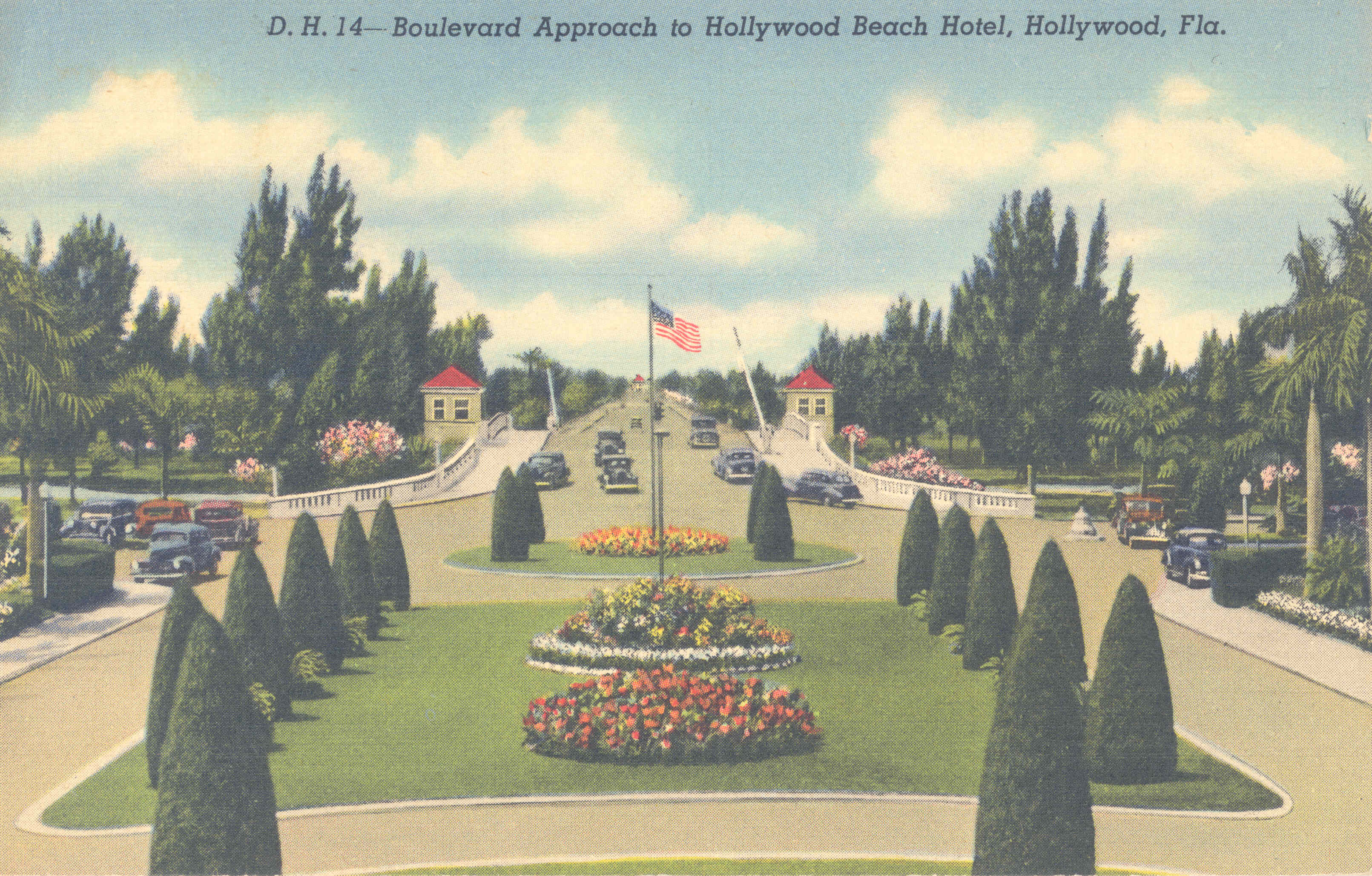 Boulevard Approach to Hollywood Beach Hotel