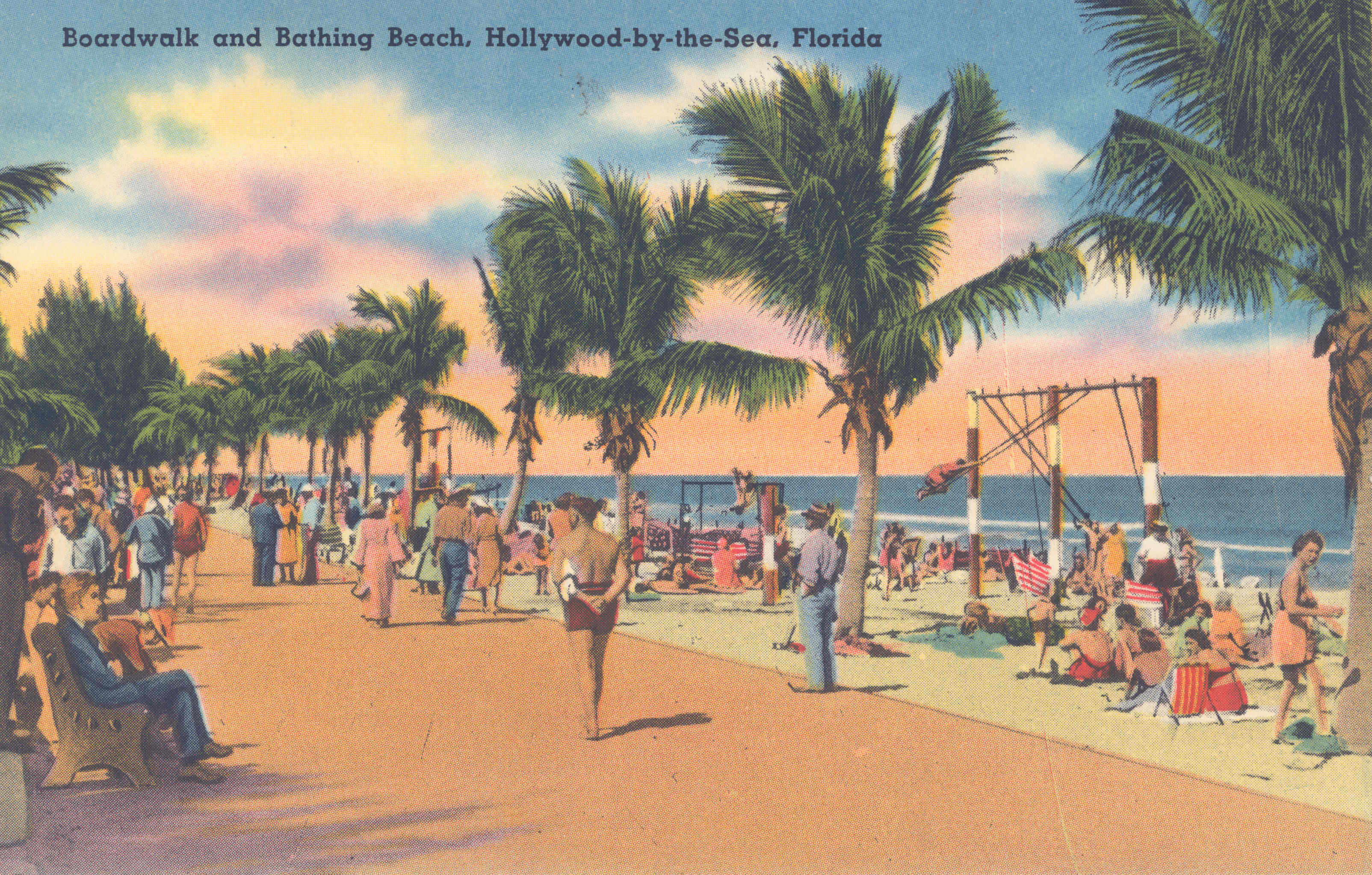 Boardwalk and Bathing Beach