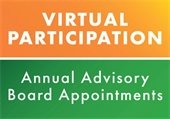 Virtual Participation Annual Advisory Board Appointments