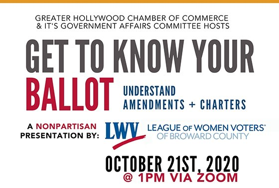 Get to know your Ballot understand amendments and charters October 21 at 1pm