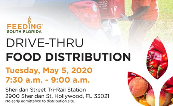 Drive-Thru Food Distribution Tuesday, May 5, 2020 7:30 - 9 am