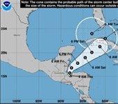 Tropical Depression Eta forecast cone
