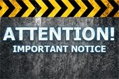 Attention! Important Notice