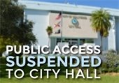 Public Access Suspended to City Hall