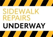 Sidewalk Repairs Underway