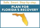 Safe. Smart. Step-by-step. Plan for Florida's Recovery.