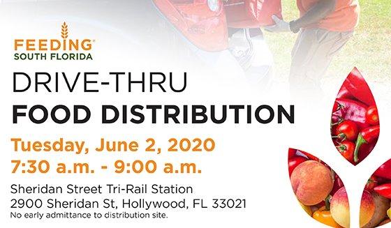Drive-Thru Food Distribution Tuesday, June 2, 2020 7:30 - 9 am