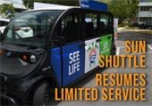 Sun Shuttle Resumes Limited Service