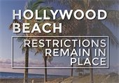 Hollywood Beach Restrictions Remain in Place