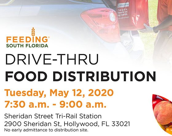 Drive-Thru Food Distribution Tuesday, May 12, 2020 7:30 - 9 am