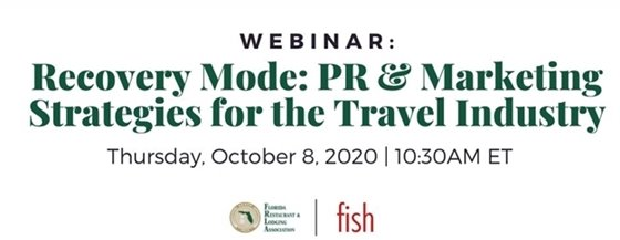 WEBINAR - Recovery Mode: PR & Marketing Strategies for the Travel Industry