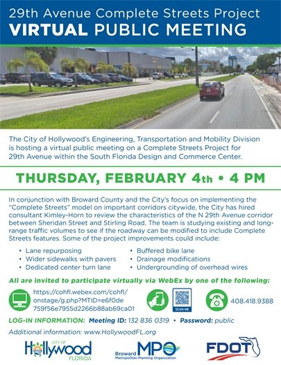 29th Avenue Complete Streets Project • Virtual Public Meeting