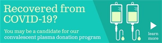Memorial Healthcare System is in need of plasma donors!