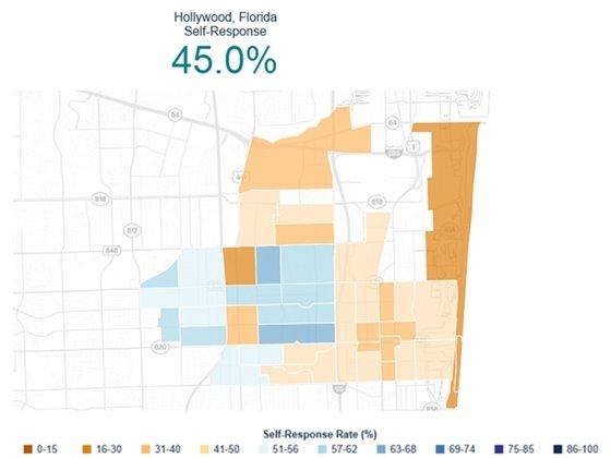 Hollywood Florida self-response 45%