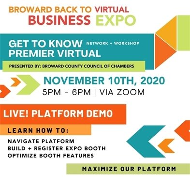 Broward Back to Business Virtual Expo - Live Platform Demo