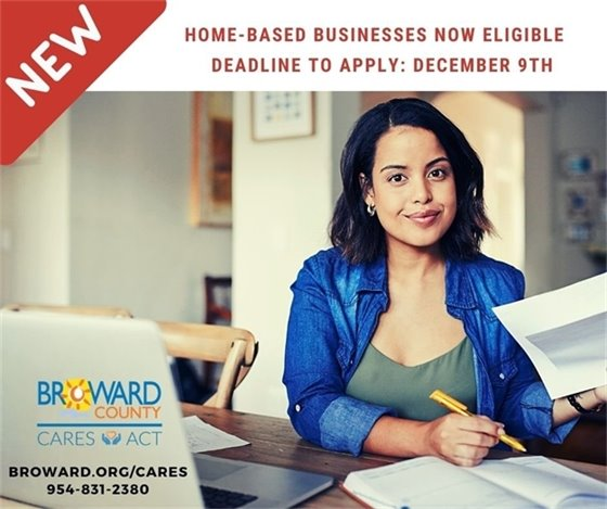Deadline to apply is Wednesday, December 9th at 11:59 p.m. Don't delay! Apply now for a CARES Act Grant for your Hollywood business: Broward.org/Cares