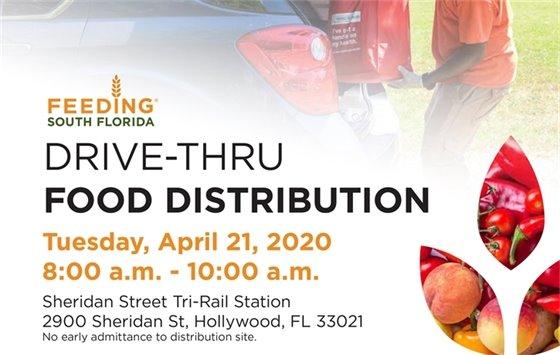 Drive-Thru Food Distribution Tuesday, April 21, 2020