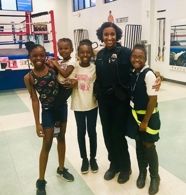 PAL holiday party- sgt. williams and kids