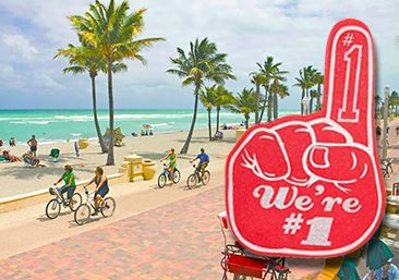 Hollywood Beach is the number one vacation destination during the month of November