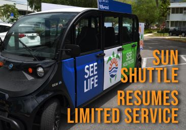 Hollywood Sun Shuttle Resumes Service On Limited Basis to Essential Locations Only.