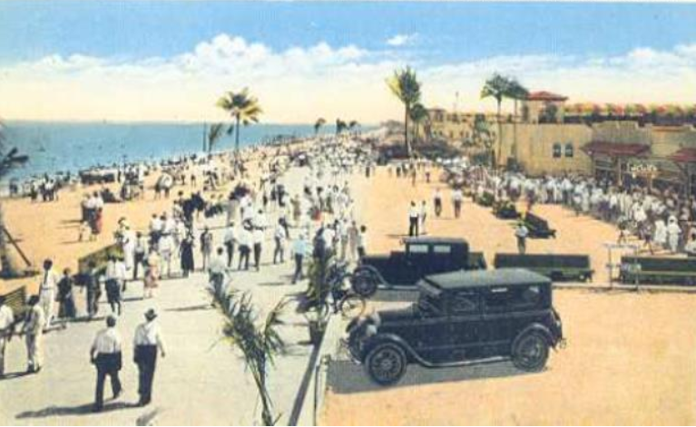 Hollywood Beach Broadwalk 1920s