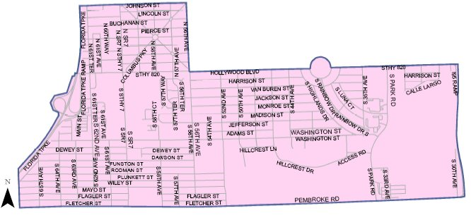 Hollywood Florida Map District 6 Map | Hollywood, FL   Official Website Hollywood Florida Map