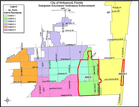 Hollywood Fl Map Dumpster Enclosure Ordinance | Hollywood, FL   Official Website Hollywood Fl Map